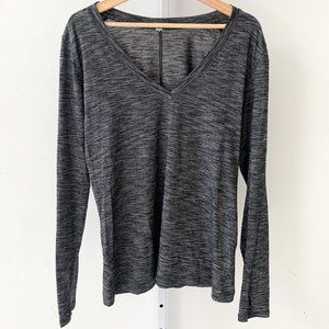 Lululemon &Go Everywhere Long Sleeve Top V-Neck 12